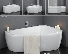 Set of baths Ravak set 14 -LoveStory -Chrome 3D model 2