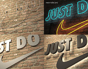 logo sign Nike Just do it 3d low-poly
