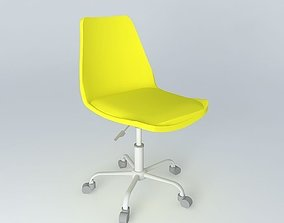 yellow chair BRISTOL houses the world 3D model