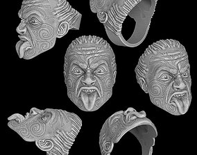 3D printable model Maori head ring