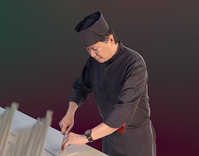 Kazuo 10169 - Standing Cook 3D model