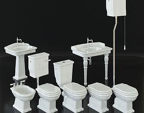 3D Artceram Hermitage toilet bidet washbasin