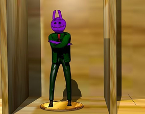 3D model Purple creature with green jacket