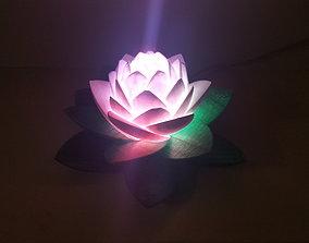 Lotus Lamp 3D printable model