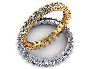 3D printable model Engagement ring 2 35 stones