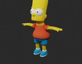 3D asset Bart Simpson