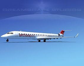 3D Bombardier CRJ900 Atlas Jet