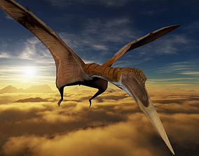 Quetzalcoatlus dinosaur 3D Model With Animation animated 1
