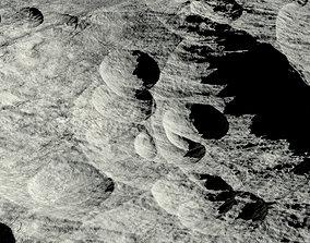 Moon surface 3D model apollo