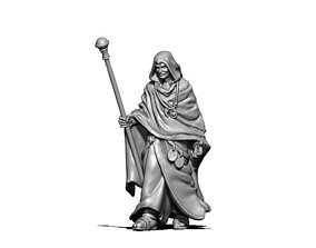 Wizard - Sorcerer - Hissar 35 mm scale - 3D print model
