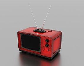 3D model VR / AR ready PBR Old TV