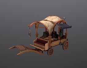 3D asset Peddler Cart