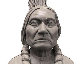 Sitting Bull 3D printable portrait sculpture human