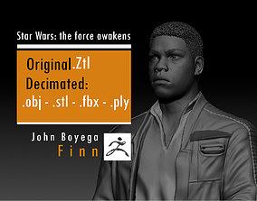 John Boyega - Finn - Star Wars the force 3D print model