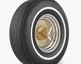 Wire Wheel Tire Firestone 3D model