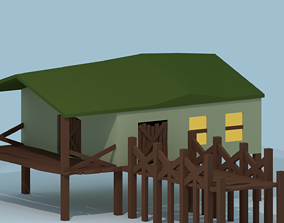 Swamp House 3D model low-poly