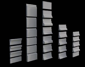 3D asset Architectural Moldings and Casings Collection - 1