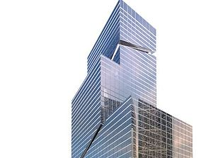 3D model Stylish Glass Skyscraper