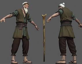 Old Man in Ancient China 3D model