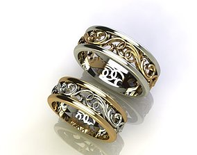 VAS 2 WEDDING RINGS-Any Size 3D printable model