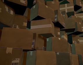 Shipping box 3D model