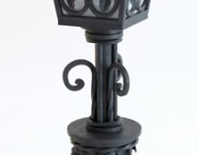 forged lantern 3D asset