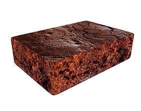 Chocolate cake bar 3D model