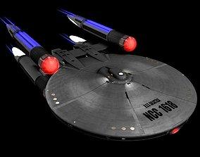 USS Galactica Star Trek Ship 3D model