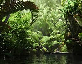 3D model Tropical Trees Collection