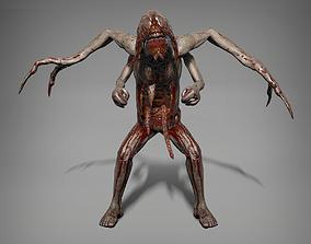 Skinny mutant 3D asset