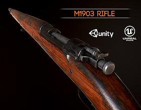 Springfield M1903 Sniper rifle USA WW2 PBR 3D model