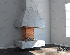 3D warm Fireplace