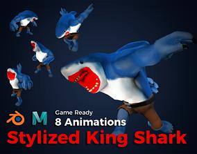 3D asset Stylized King Shark - Game Ready