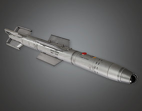 3D model Military Missle Guided Bomb - MLT - PBR Game