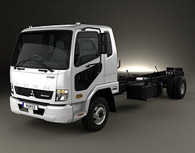 Mitsubishi Fuso Fighter Chassis Truck 2017 3D