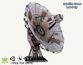 3D asset Satellite Tower