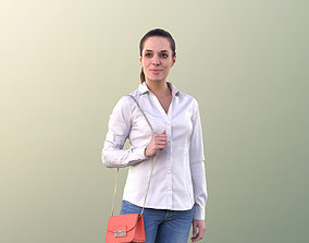 Juliette 10804 - Woman Walking With Red Bag 3D model