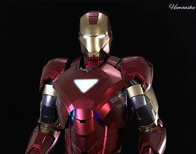 rigged Iron man Mark 6 3d model