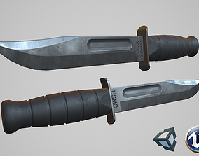 3D asset Ka-Bar knife
