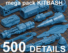 Mega Pack Hard Surface Kitbash 500 3D model