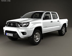 3D Toyota Tacoma Double Cab Short Bed 2012
