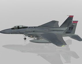 3D F-15C Eagle USAF military aircraft