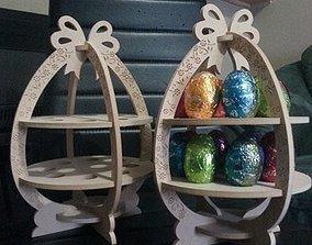 Happy Easter Egg holder 3D print model