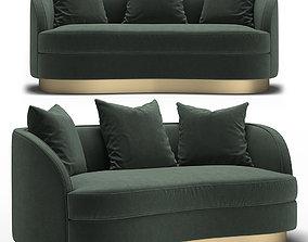 3D St Tropez 2 Petite Curved Sofa