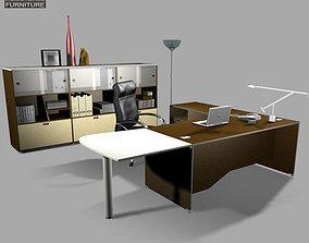 3D asset VR / AR ready Office Set office