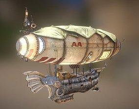 3D asset low-poly zeppelin
