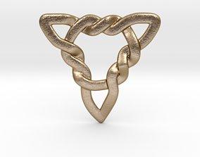 3D printable model Triangle Knots Pendant