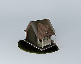 Small vacation home ski-mountain 3D