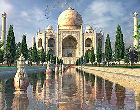 3D asset game-ready Taj mahal