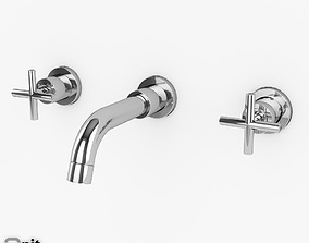 3D model Wall-mount Washbasin Tap Helix series by Hudson